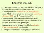 epilepsie sous nl1