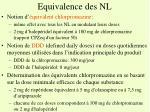 equivalence des nl