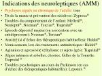 indications des neuroleptiques amm