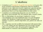 l akathisie