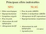 principaux effets ind sirables npg nlsg