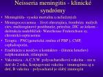 neisseria meningitis klinick syndr my