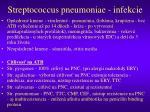 streptococcus pneumoniae infekcie