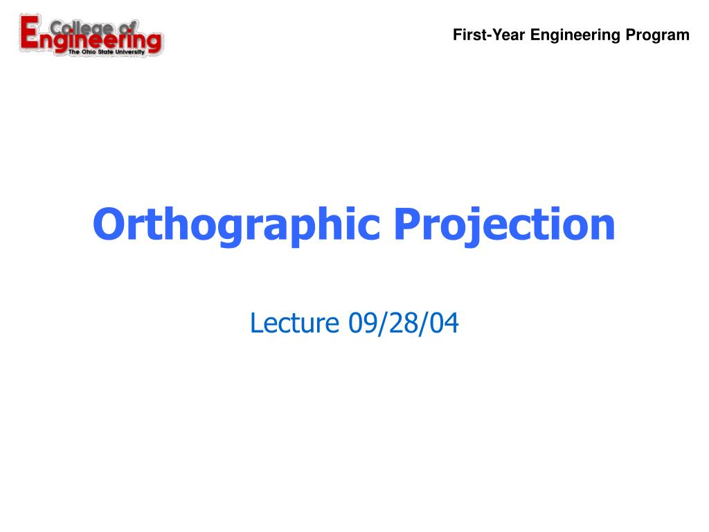 orthographic projection l.
