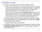 acceptor levels