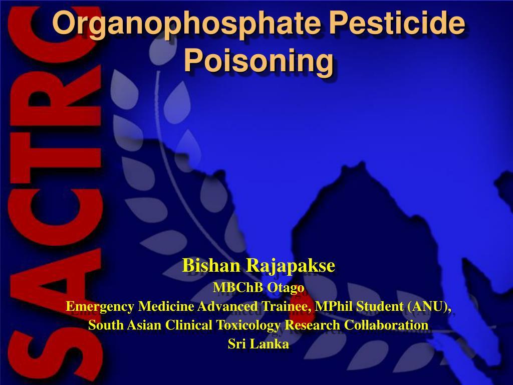 organophosphate pesticide poisoning l.