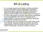 bill of lading22