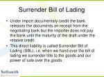 surrender bill of lading