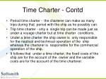 time charter contd