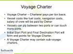 voyage charter