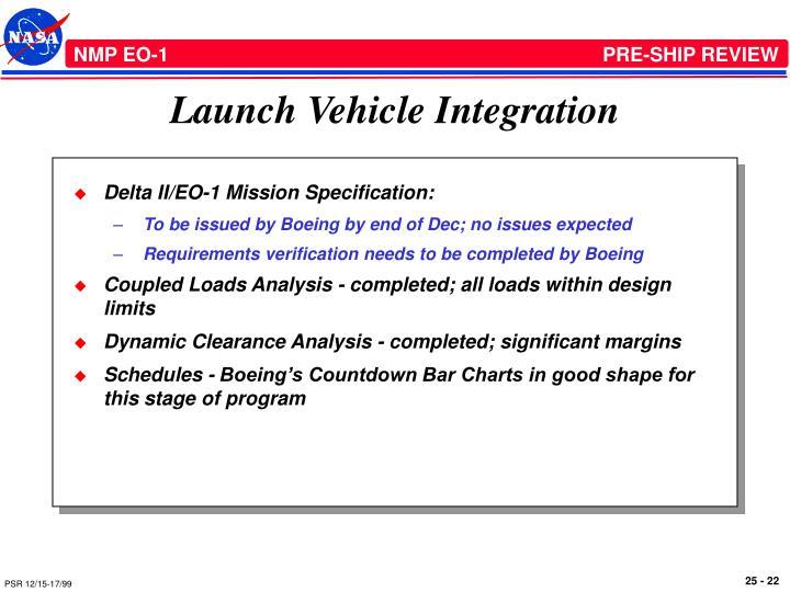 Launch Vehicle Integration