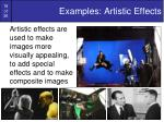 examples artistic effects