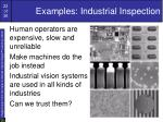 examples industrial inspection
