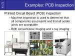 examples pcb inspection