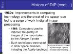 history of dip cont13