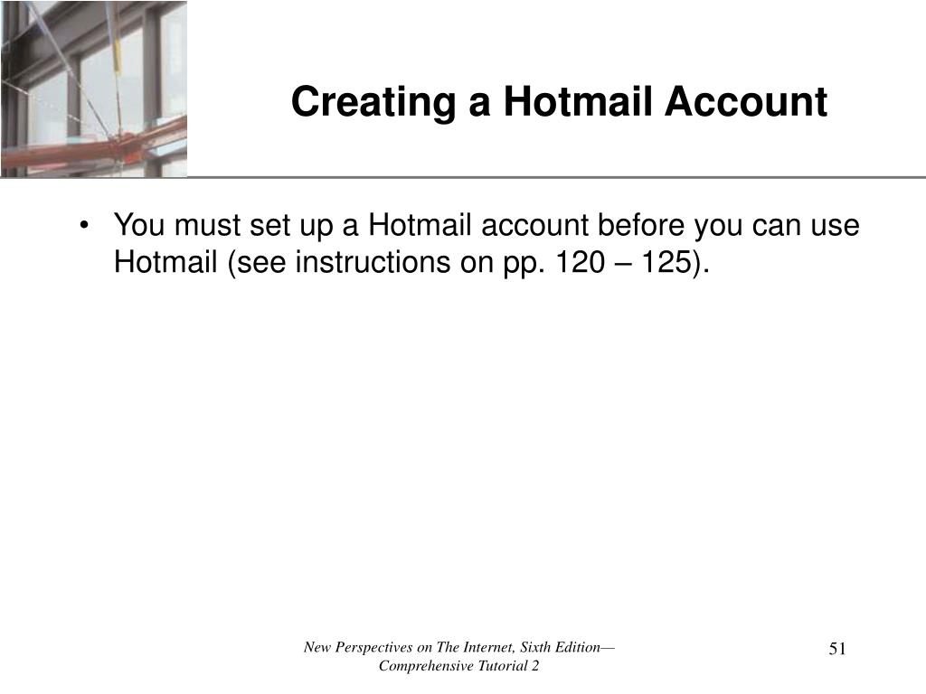 Creating a Hotmail Account
