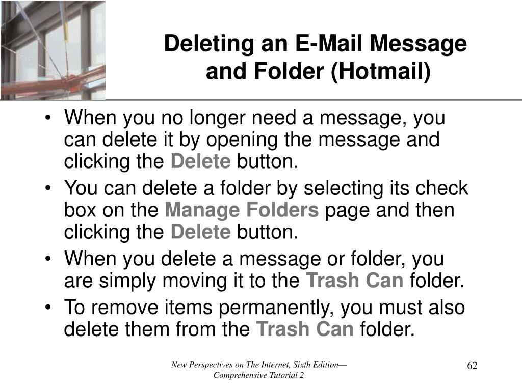 Deleting an E-Mail Message