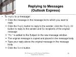 replying to messages outlook express