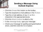 sending a message using outlook express