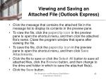 viewing and saving an attached file outlook express
