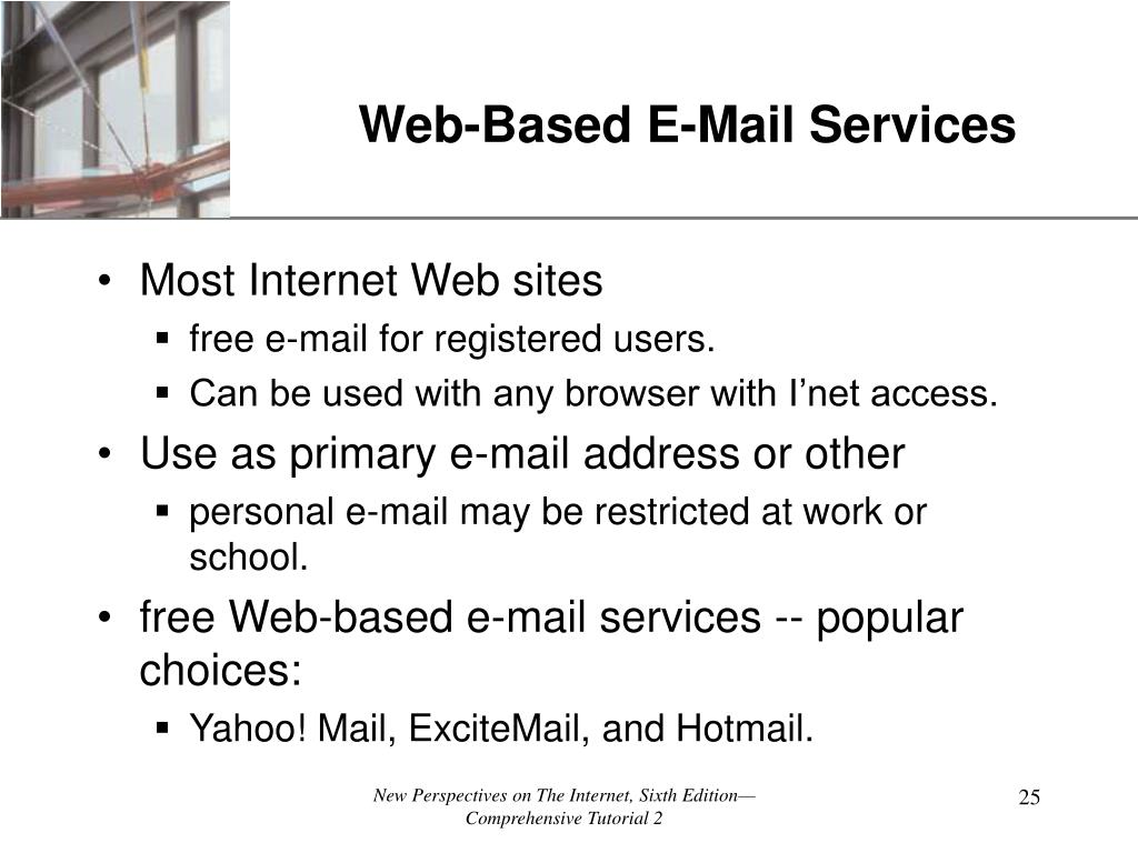 Web-Based E-Mail Services