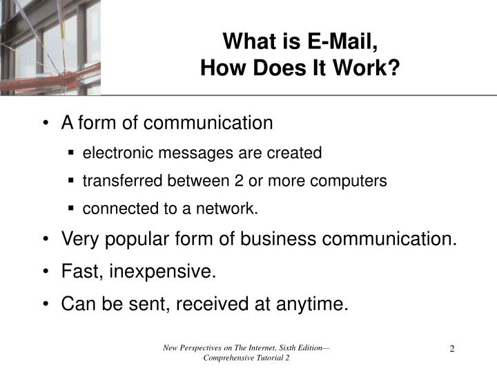 What is e mail how does it work
