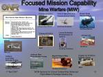 focused mission capability mine warfare miw