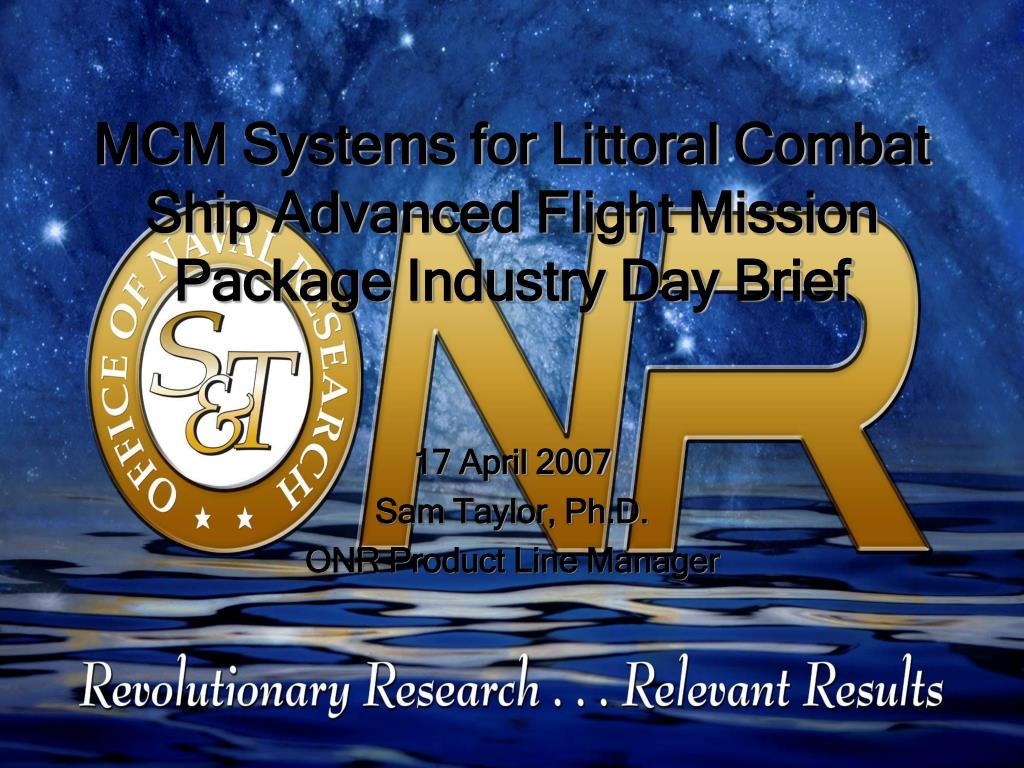 mcm systems for littoral combat ship advanced flight mission package industry day brief l.