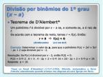 divis o por bin mios do 1 grau x a1