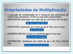propriedades da multiplica o