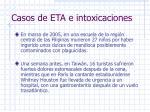 casos de eta e intoxicaciones