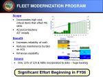 fleet modernization program