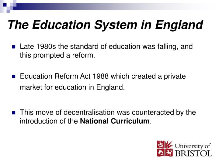education reform react 1988 summary