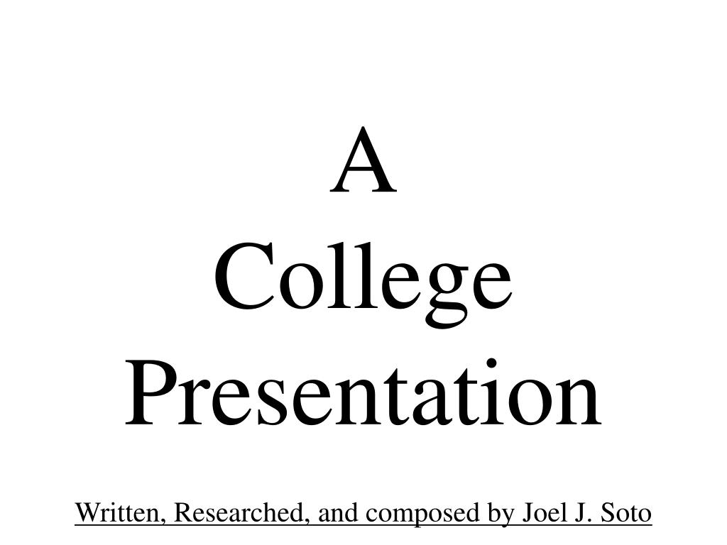 a college presentation l.