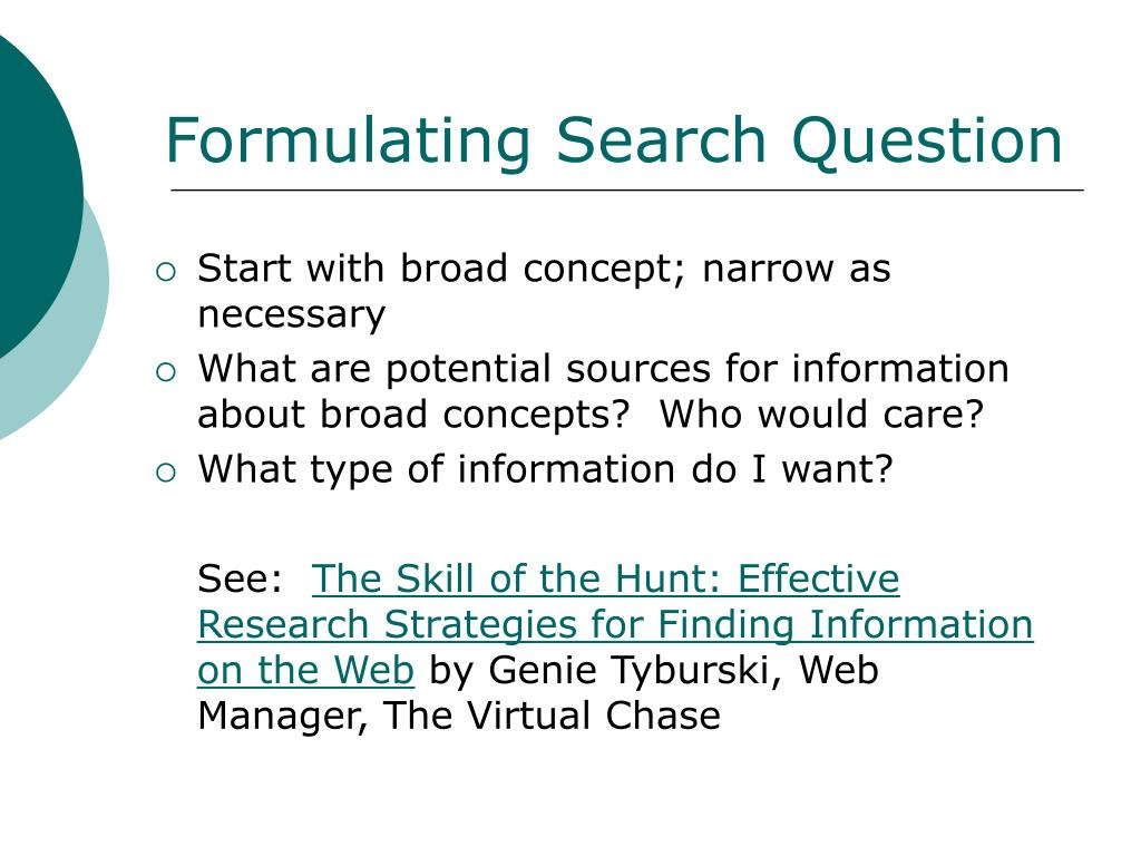 Formulating Search Question