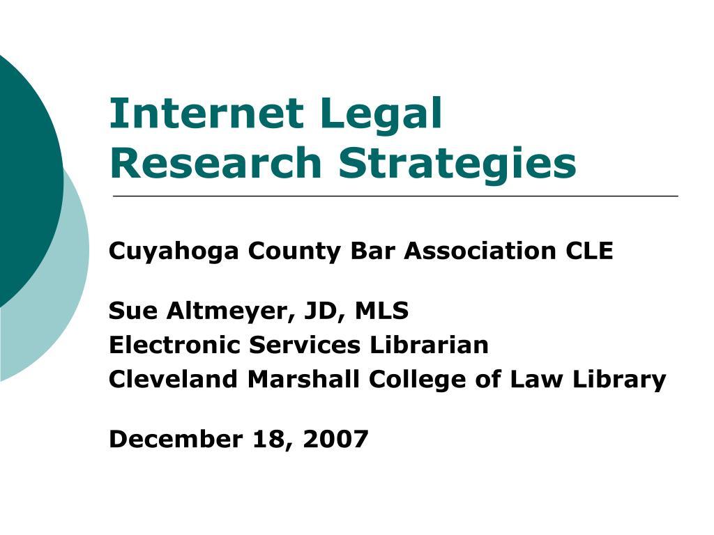 internet legal research strategies l.