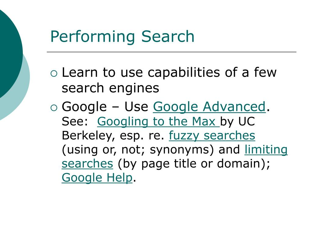 Performing Search