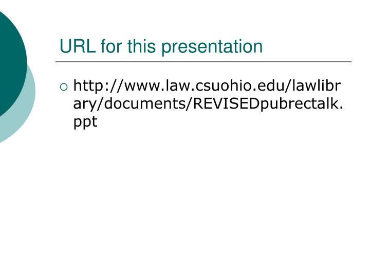 Url for this presentation