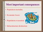 most important consequences