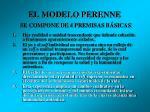 el modelo perenne se compone de 4 premisas b sicas