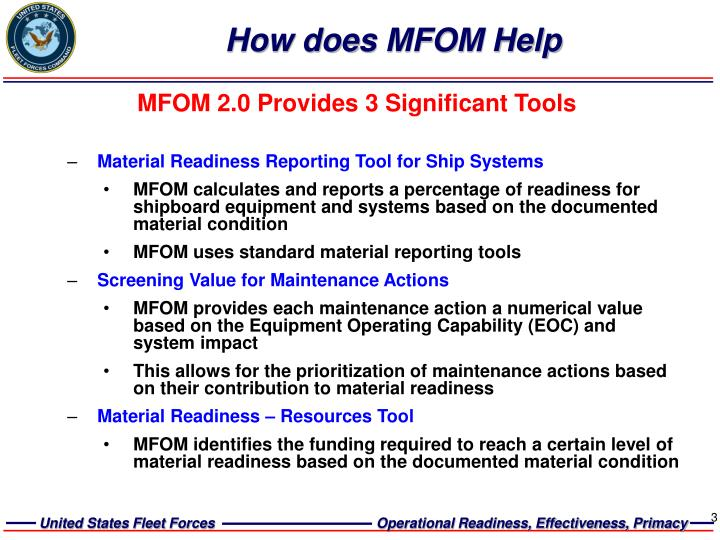 How does mfom help