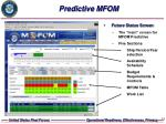 predictive mfom
