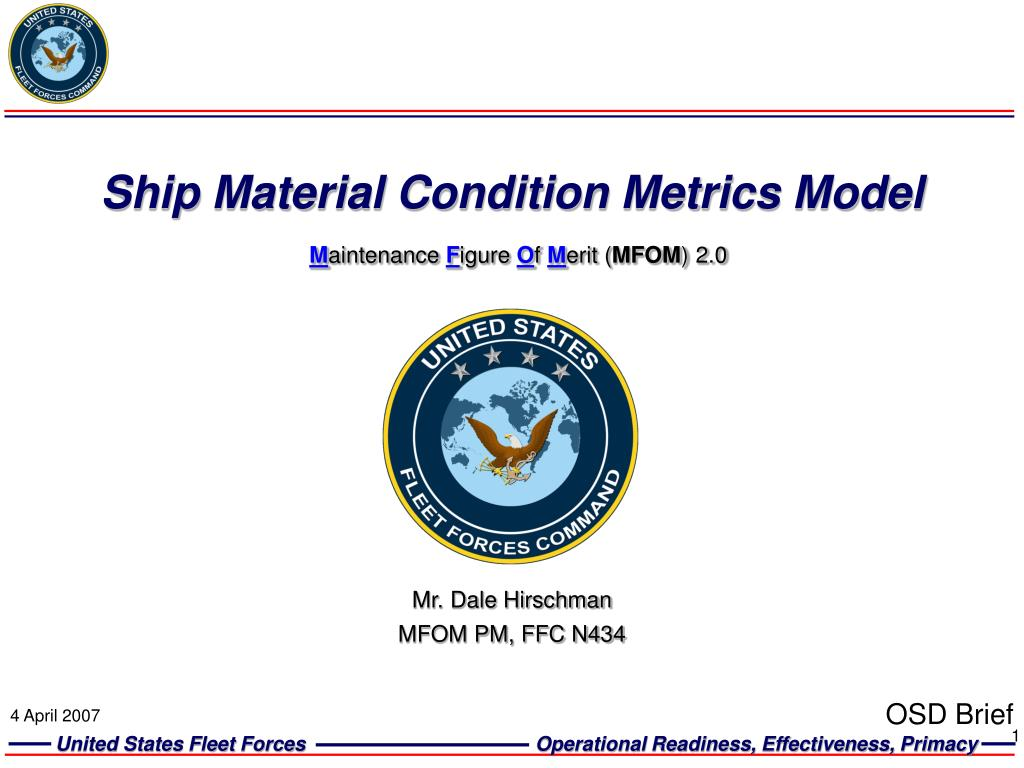 Ship Material Condition Metrics Model