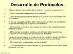 desarrollo de protocolos