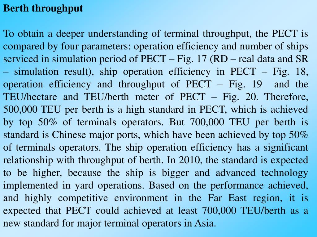 Berth throughput