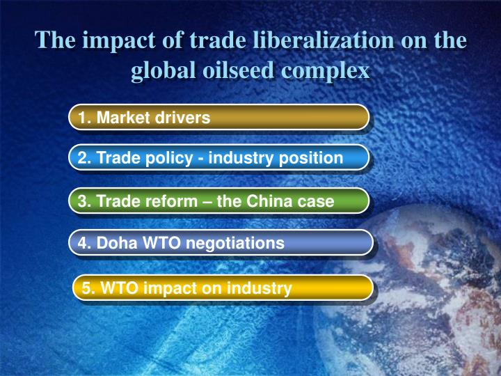 the impacts of trade liberalization on Purpose – this paper aims to investigate the impact of trade liberalization on economic growth of selected developing and least developed economies by augmenting standard production function.