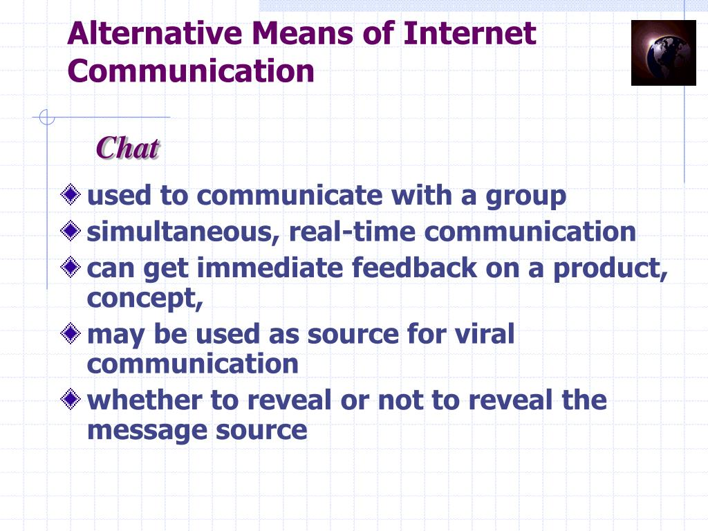 Alternative Means of Internet Communication