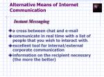 alternative means of internet communication10