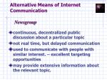 alternative means of internet communication11