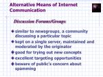 alternative means of internet communication12